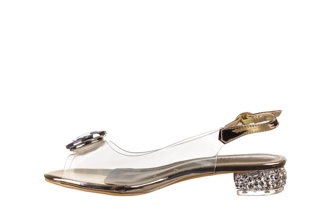 Sandały sca'viola g-15 gold 047168, złoty, silikon - nowości 10