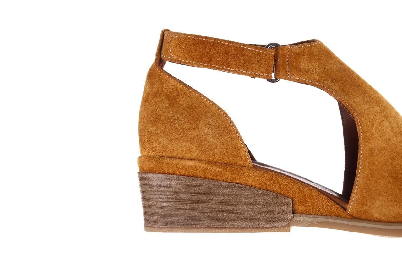 Sandały bayla-161 061 1612 noce suede, żółty, skóra naturalna  - sandały - buty damskie - kobieta 15