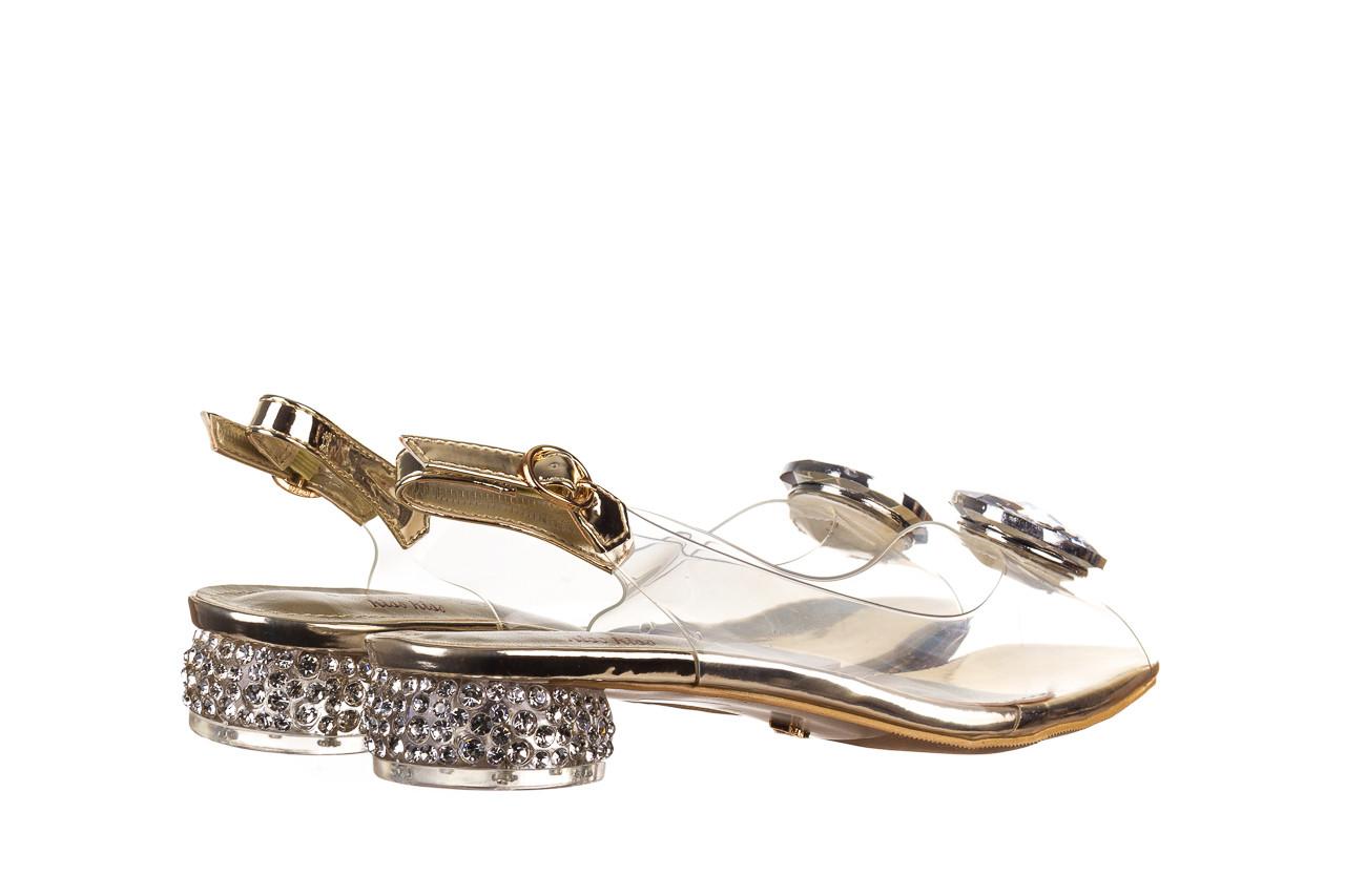 Sandały sca'viola g-15 gold 047168, złoty, silikon - nowości 11