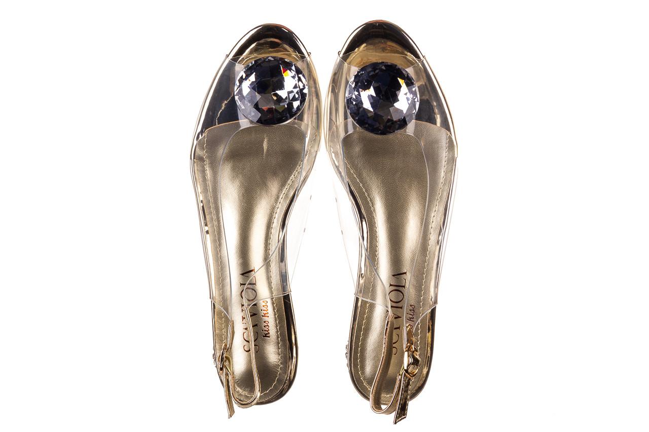 Sandały sca'viola g-15 gold 047168, złoty, silikon - nowości 12