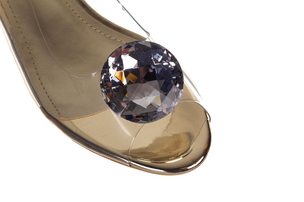 Sandały sca'viola g-15 gold 047168, złoty, silikon - nowości 13