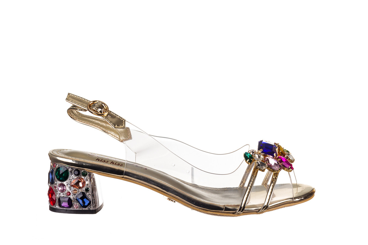 Sandały sca'viola g-25 gold 21 047170, złoty, silikon - sandały - buty damskie - kobieta 8