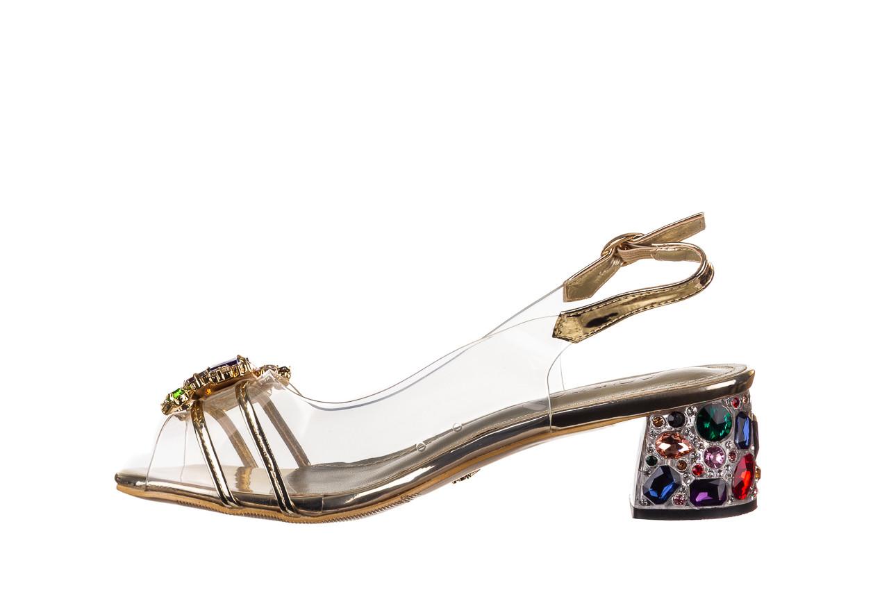 Sandały sca'viola g-25 gold 21 047170, złoty, silikon - sandały - buty damskie - kobieta 10
