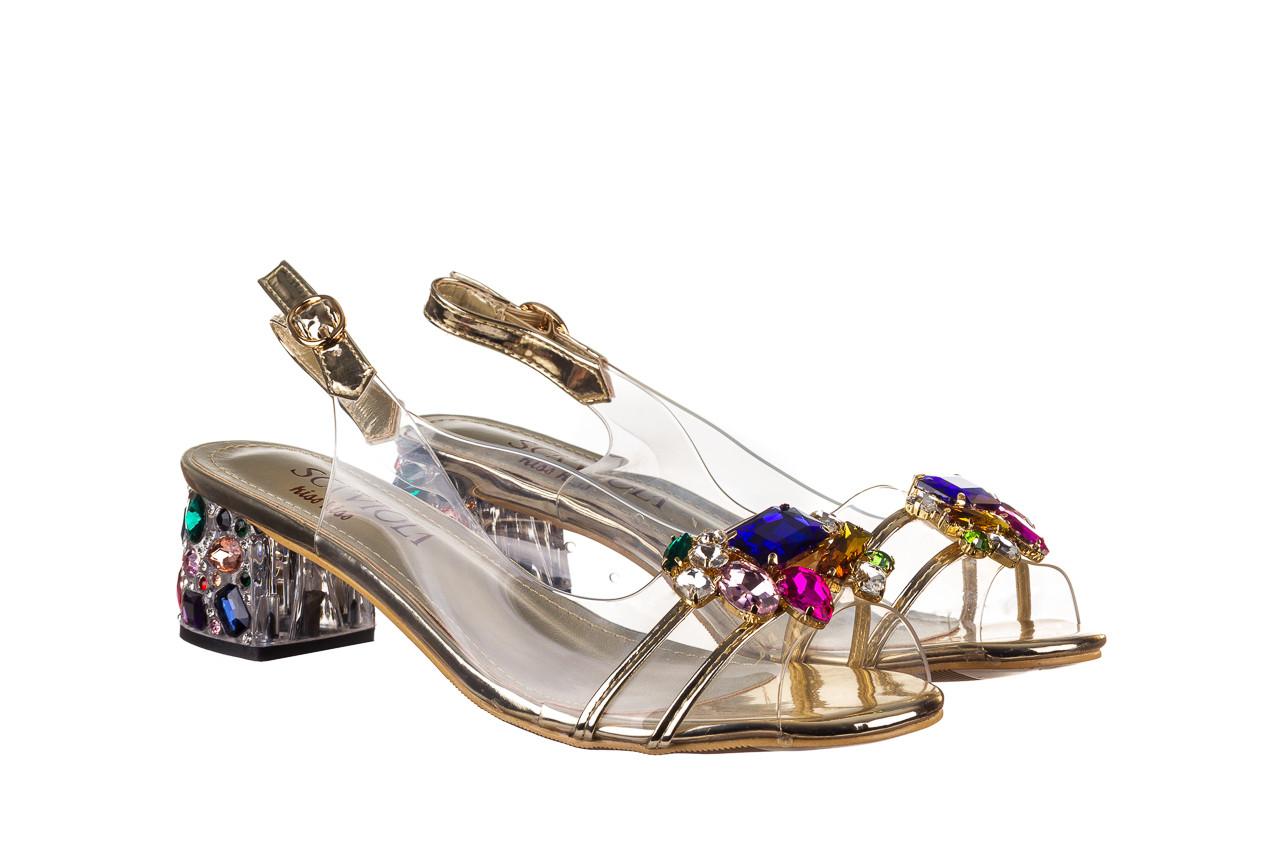 Sandały sca'viola g-25 gold 21 047170, złoty, silikon - sandały - buty damskie - kobieta 9