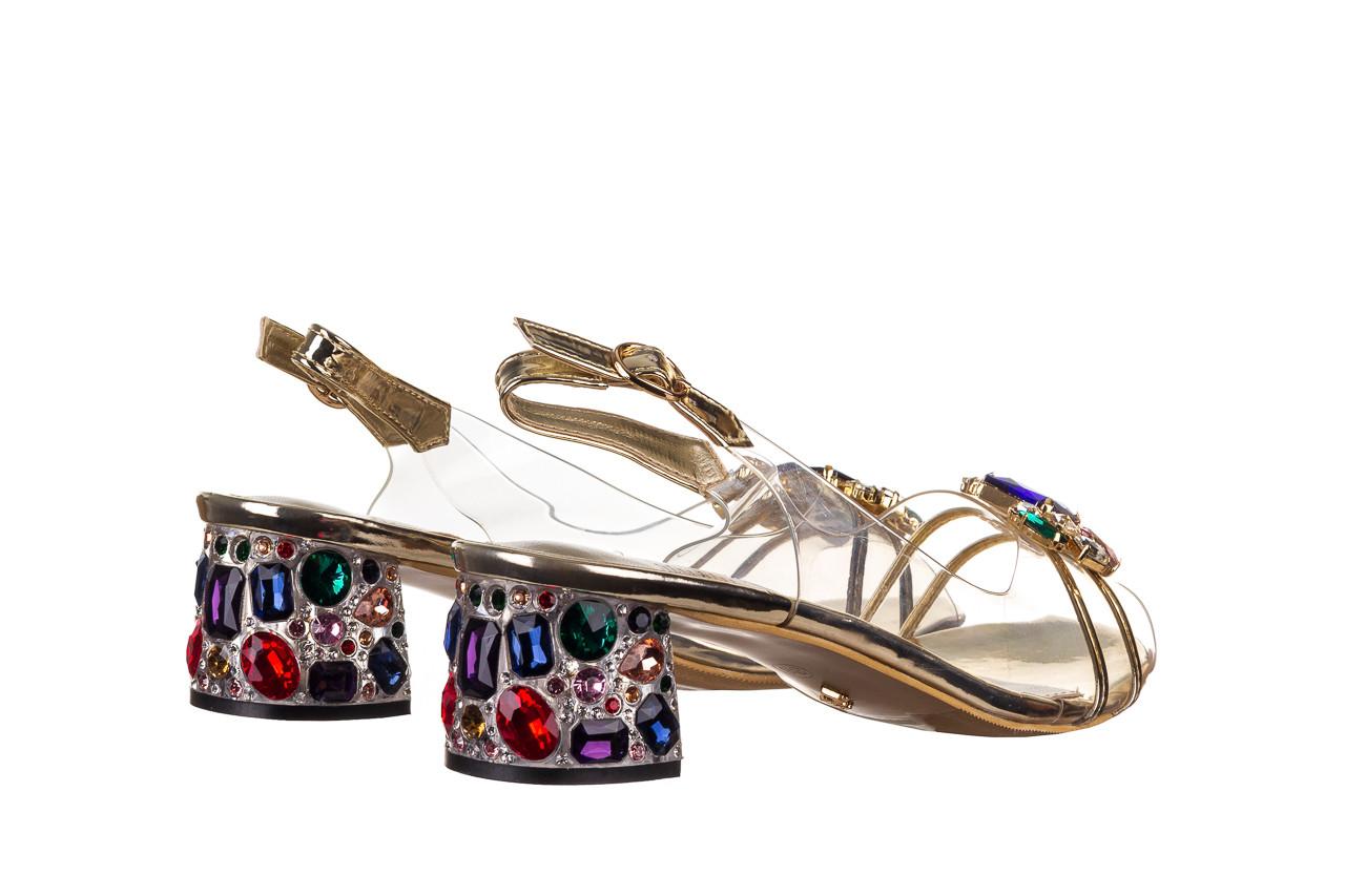 Sandały sca'viola g-25 gold 21 047170, złoty, silikon - sandały - buty damskie - kobieta 11