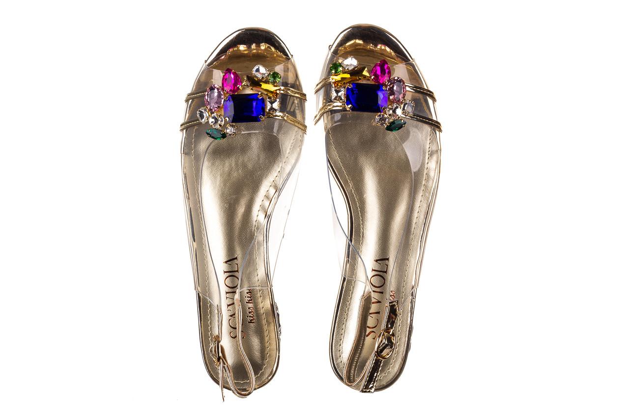 Sandały sca'viola g-25 gold 21 047170, złoty, silikon - sandały - buty damskie - kobieta 12