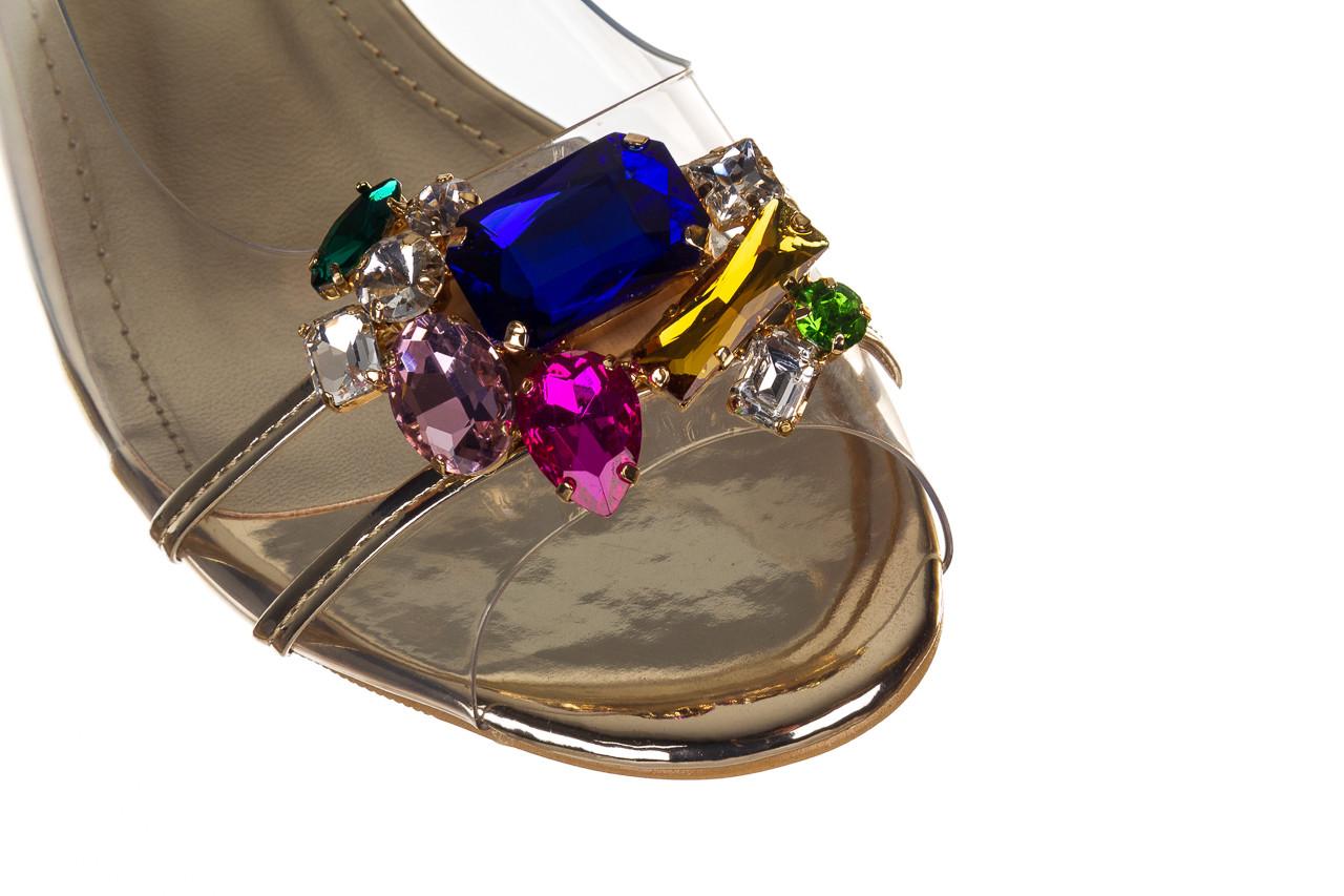 Sandały sca'viola g-25 gold 21 047170, złoty, silikon - sandały - buty damskie - kobieta 13