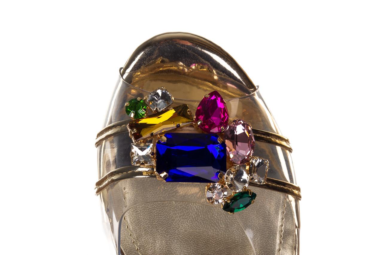 Sandały sca'viola g-25 gold 21 047170, złoty, silikon - sandały - buty damskie - kobieta 15