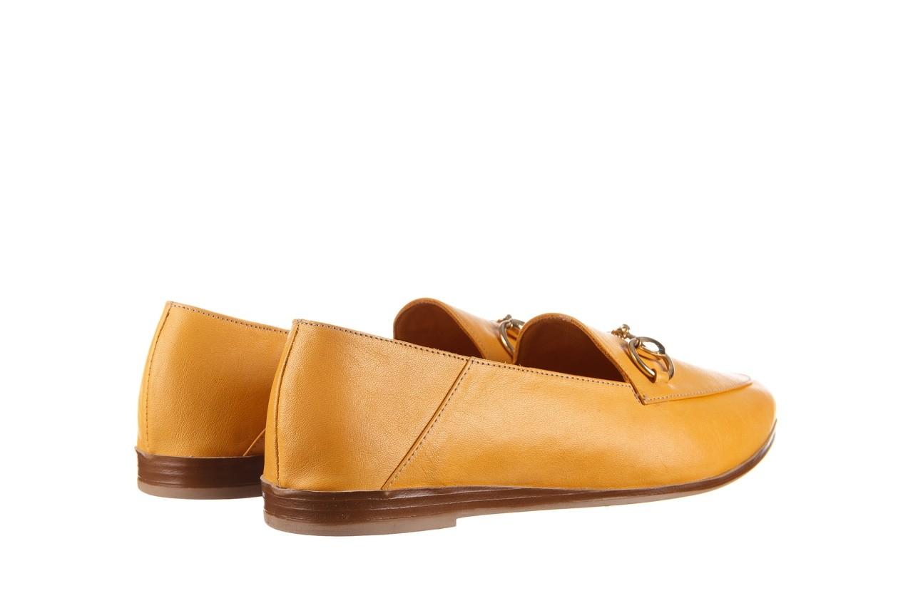 Półbuty bayla-161 138 80127 noce, żółty, skóra naturalna - półbuty - buty damskie - kobieta 11