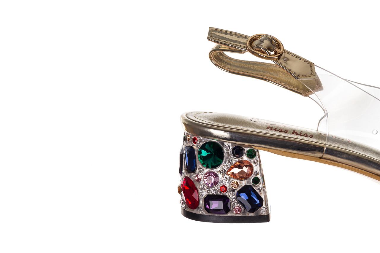 Sandały sca'viola g-25 gold 21 047170, złoty, silikon - sandały - buty damskie - kobieta 14