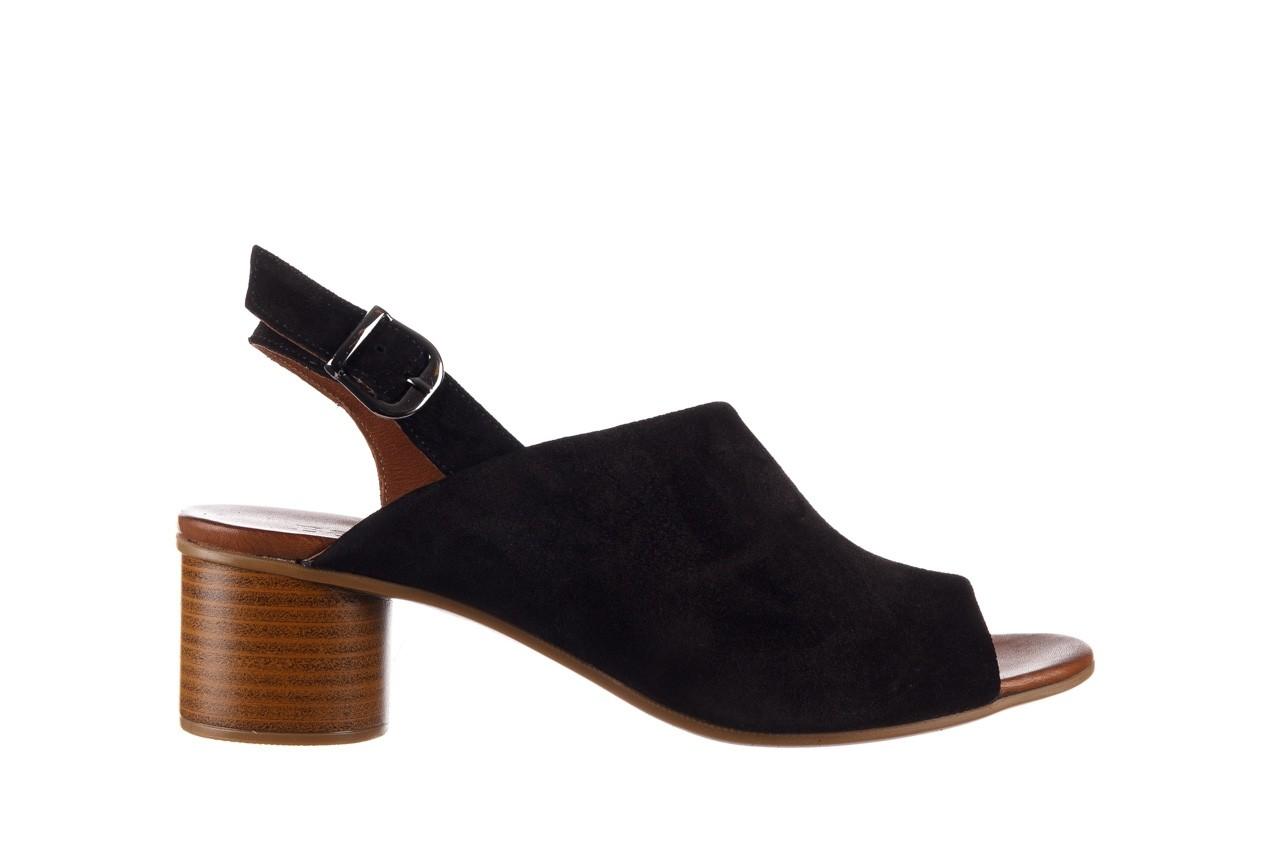 Sandały bayla-161 061 1030 black suede, czarny, skóra naturalna zamszowa - sandały - dla niej  - sale 8