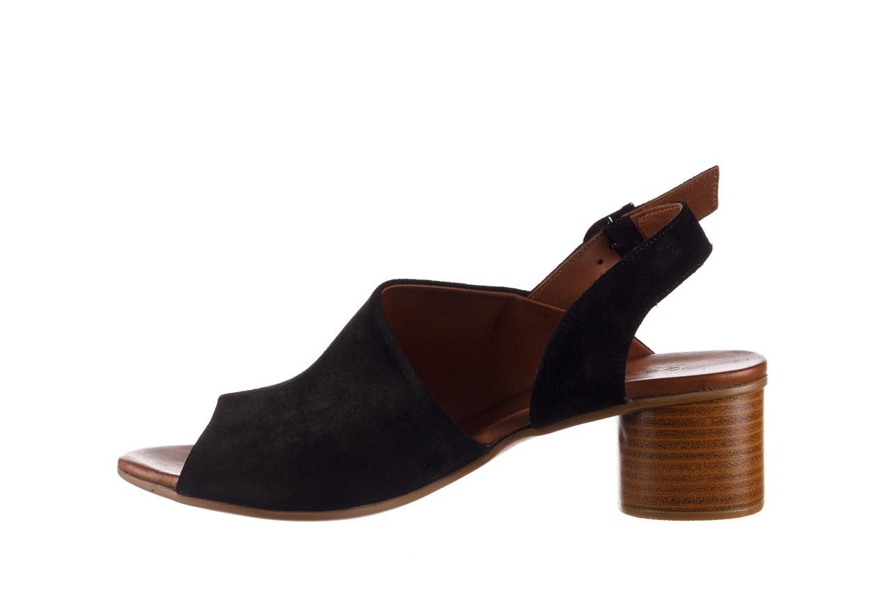 Sandały bayla-161 061 1030 black suede, czarny, skóra naturalna zamszowa - sandały - dla niej  - sale 10