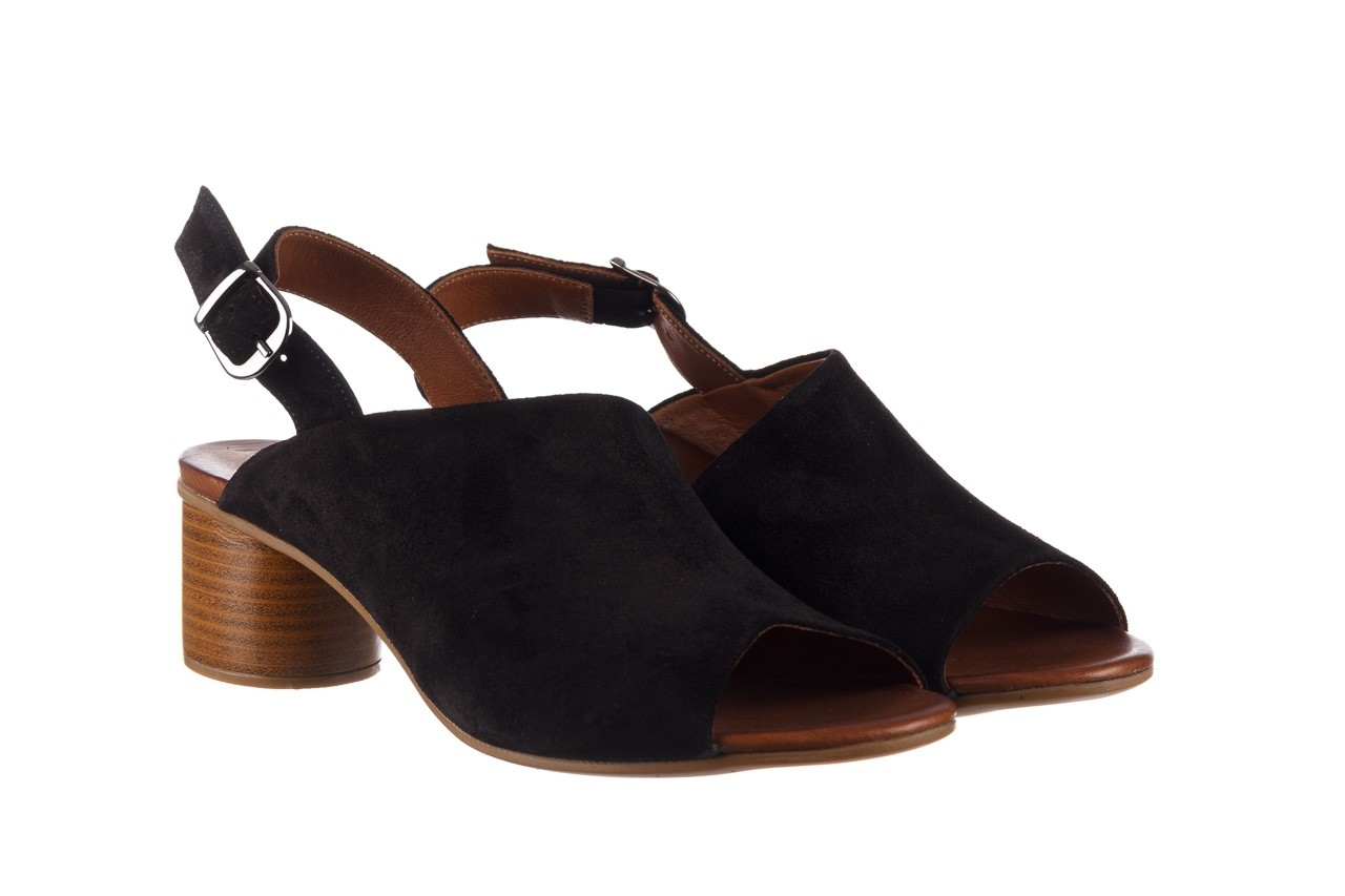 Sandały bayla-161 061 1030 black suede, czarny, skóra naturalna zamszowa - sandały - dla niej  - sale 9