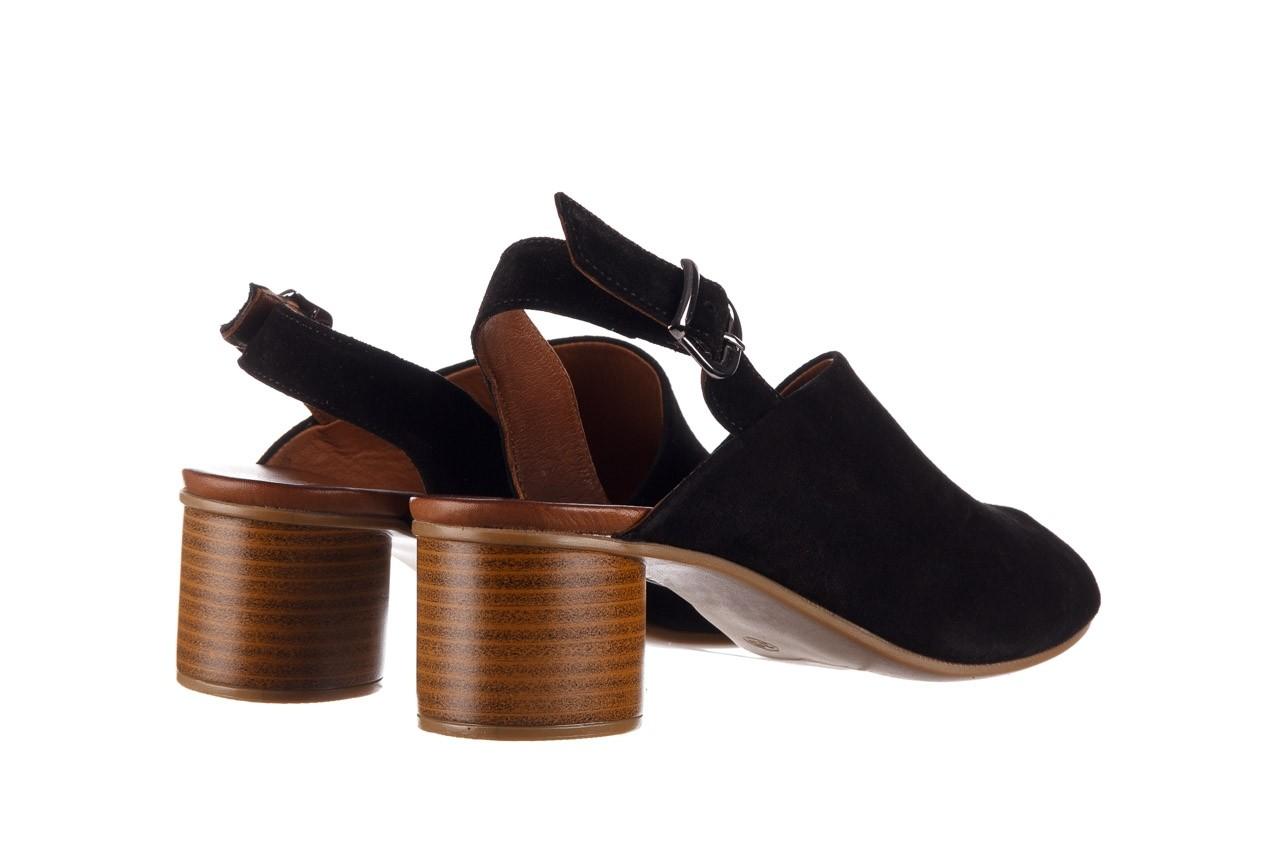 Sandały bayla-161 061 1030 black suede, czarny, skóra naturalna zamszowa - sandały - buty damskie - kobieta 11