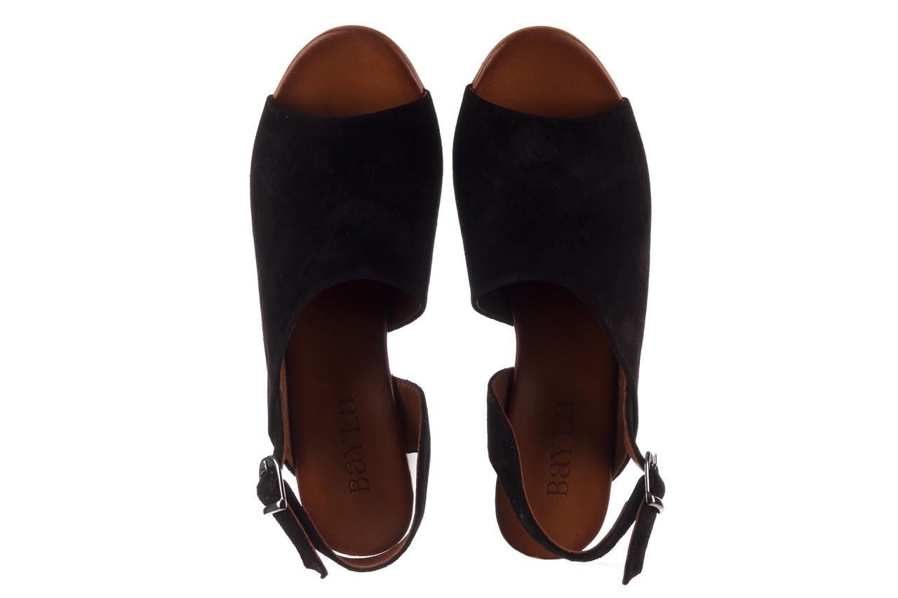 Sandały bayla-161 061 1030 black suede, czarny, skóra naturalna zamszowa - sandały - dla niej  - sale 12