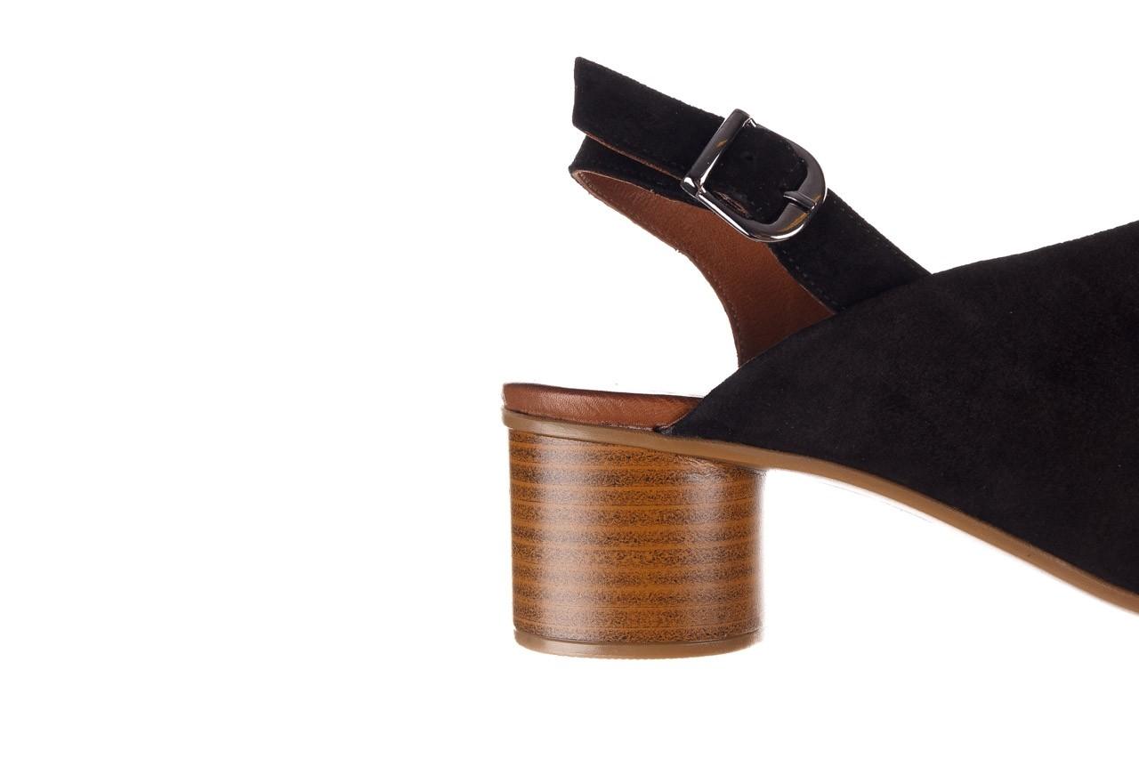 Sandały bayla-161 061 1030 black suede, czarny, skóra naturalna zamszowa - sandały - dla niej  - sale 15