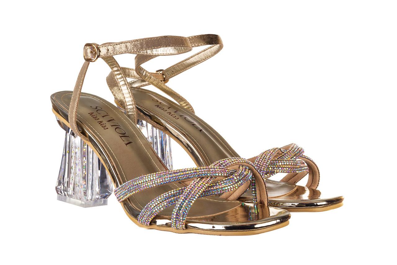 Sandały sca'viola g-66 gold 047177, złoty, skóra naturalna  - na obcasie - sandały - buty damskie - kobieta 9
