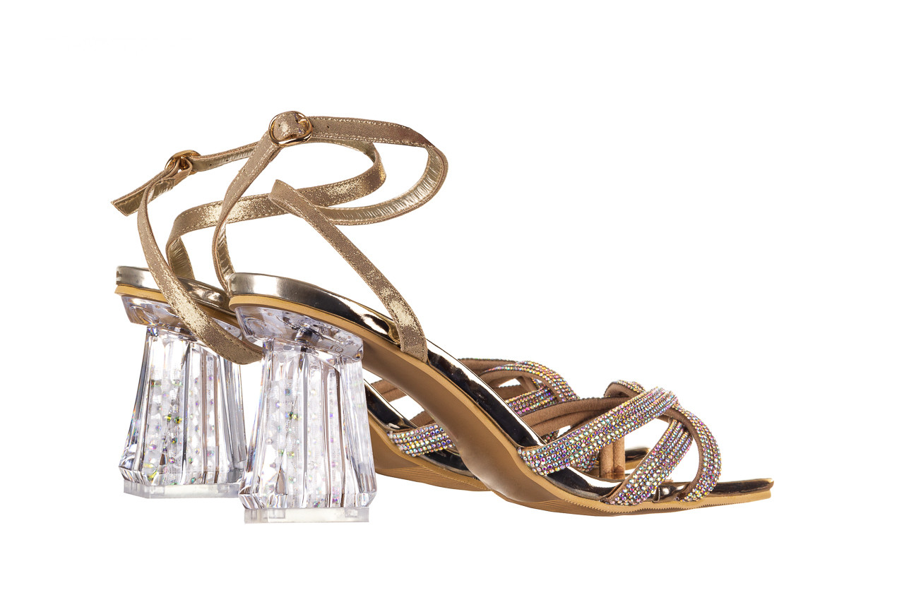 Sandały sca'viola g-66 gold 047177, złoty, skóra naturalna  - na obcasie - sandały - buty damskie - kobieta 11