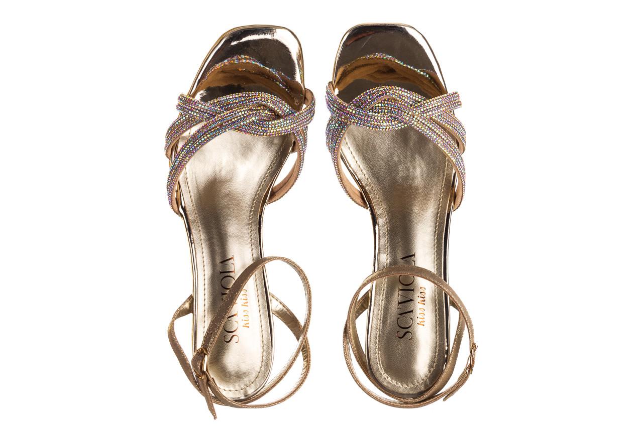 Sandały sca'viola g-66 gold 047177, złoty, skóra naturalna  - na obcasie - sandały - buty damskie - kobieta 12