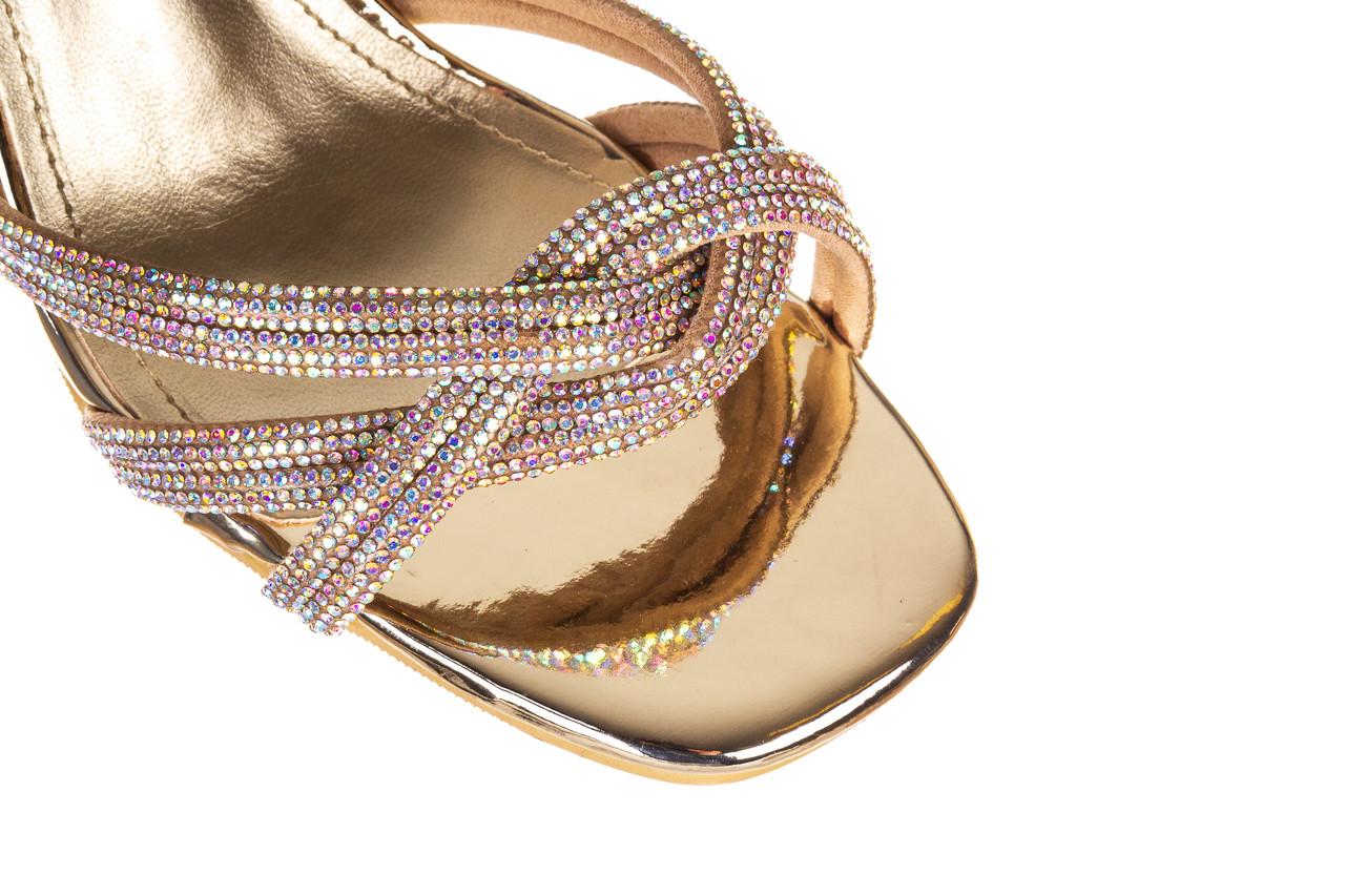 Sandały sca'viola g-66 gold 047177, złoty, skóra naturalna  - na obcasie - sandały - buty damskie - kobieta 13