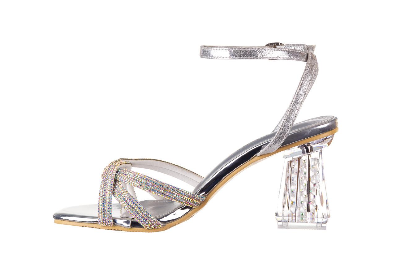 Sandały sca'viola g-66 silver 047178, srebro, skóra naturalna  - na obcasie - sandały - buty damskie - kobieta 10