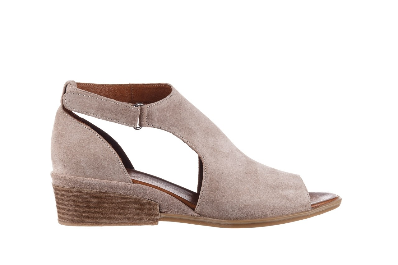 Sandały bayla-161 061 1612 beige suede, beż, skóra naturalna  - skórzane - sandały - buty damskie - kobieta 8