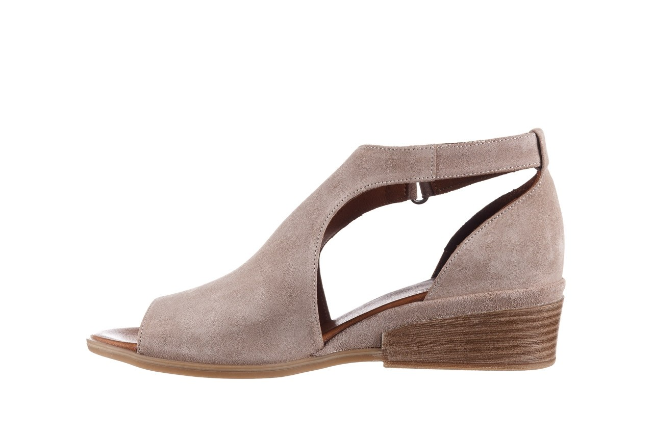 Sandały bayla-161 061 1612 beige suede, beż, skóra naturalna  - skórzane - sandały - buty damskie - kobieta 10
