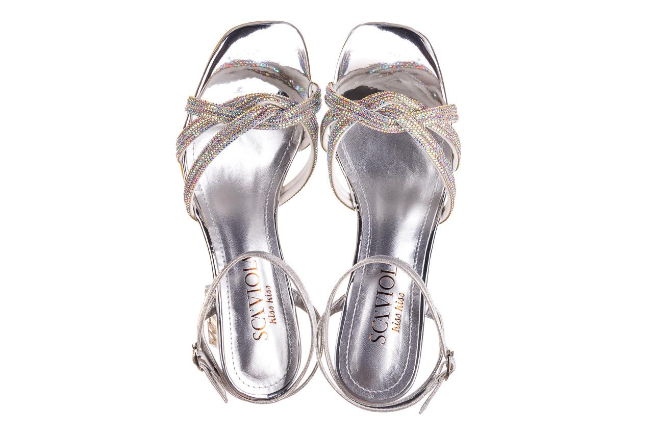 Sandały sca'viola g-66 silver 047178, srebro, skóra naturalna  - na obcasie - sandały - buty damskie - kobieta 12
