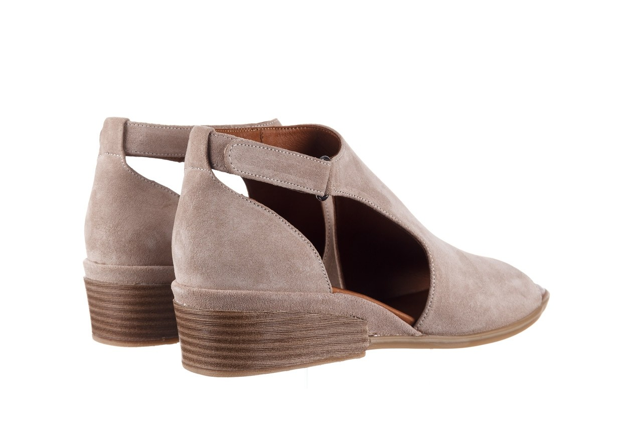 Sandały bayla-161 061 1612 beige suede, beż, skóra naturalna  - skórzane - sandały - buty damskie - kobieta 11