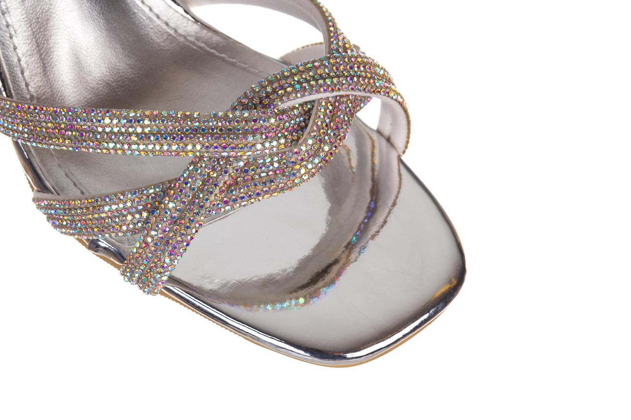 Sandały sca'viola g-66 silver 047178, srebro, skóra naturalna  - na obcasie - sandały - buty damskie - kobieta 15