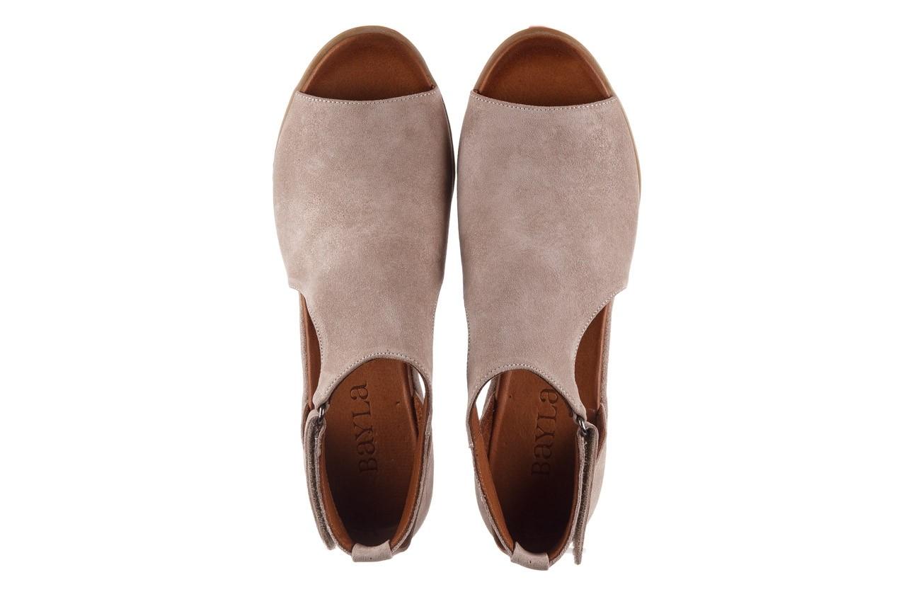 Sandały bayla-161 061 1612 beige suede, beż, skóra naturalna  - sandały - buty damskie - kobieta 12