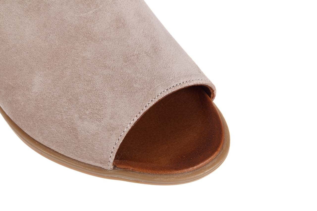 Sandały bayla-161 061 1612 beige suede, beż, skóra naturalna  - skórzane - sandały - buty damskie - kobieta 13