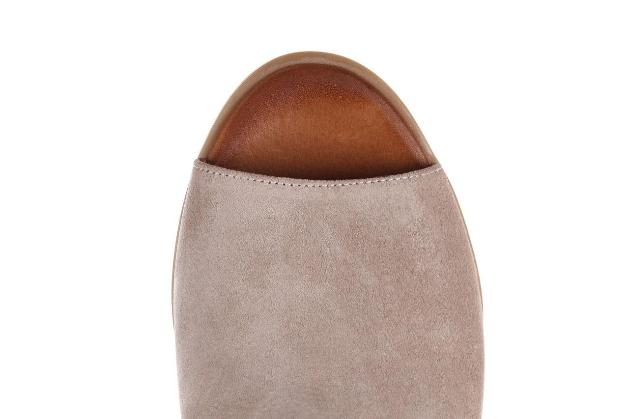 Sandały bayla-161 061 1612 beige suede, beż, skóra naturalna  - skórzane - sandały - buty damskie - kobieta 14