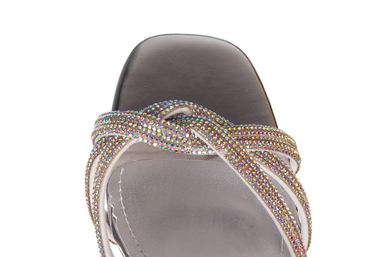 Sandały sca'viola g-66 silver 047178, srebro, skóra naturalna  - na obcasie - sandały - buty damskie - kobieta 14