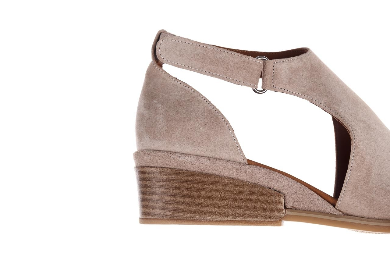 Sandały bayla-161 061 1612 beige suede, beż, skóra naturalna  - skórzane - sandały - buty damskie - kobieta 15