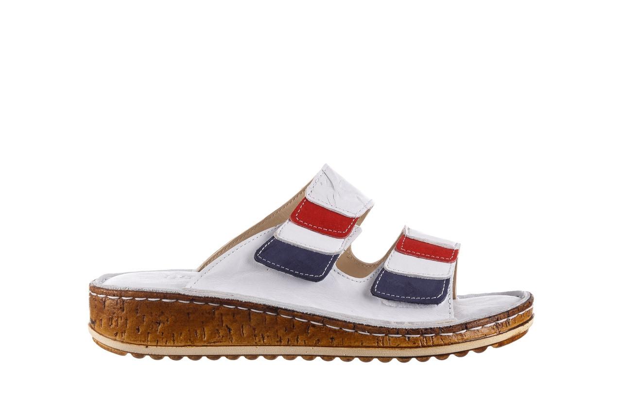 Klapki bayla-161 016 109 tommy 21 161187, biały, skóra naturalna  - klapki - buty damskie - kobieta 8
