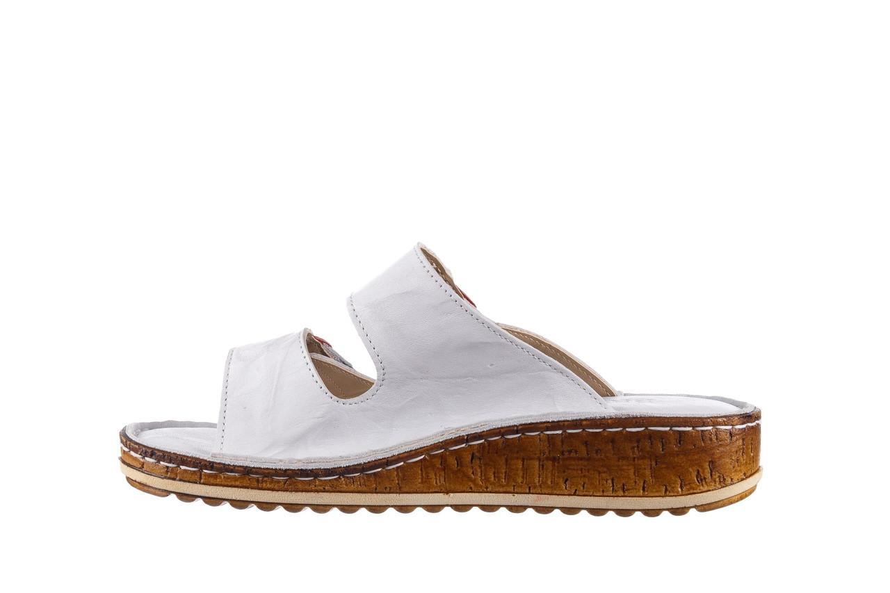 Klapki bayla-161 016 109 tommy 21 161187, biały, skóra naturalna  - klapki - buty damskie - kobieta 10