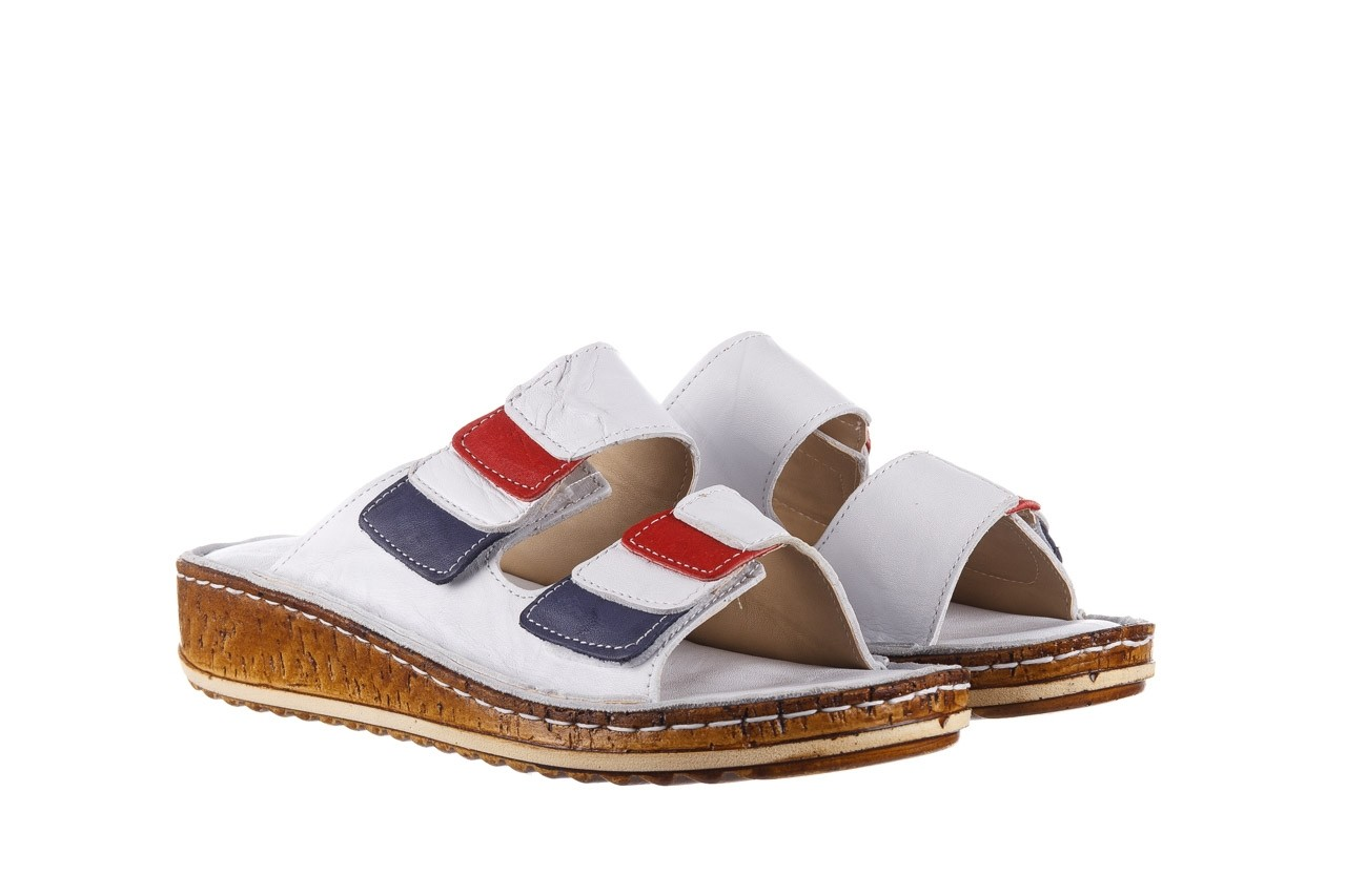 Klapki bayla-161 016 109 tommy, biały, skóra naturalna  - klapki - buty damskie - kobieta 9