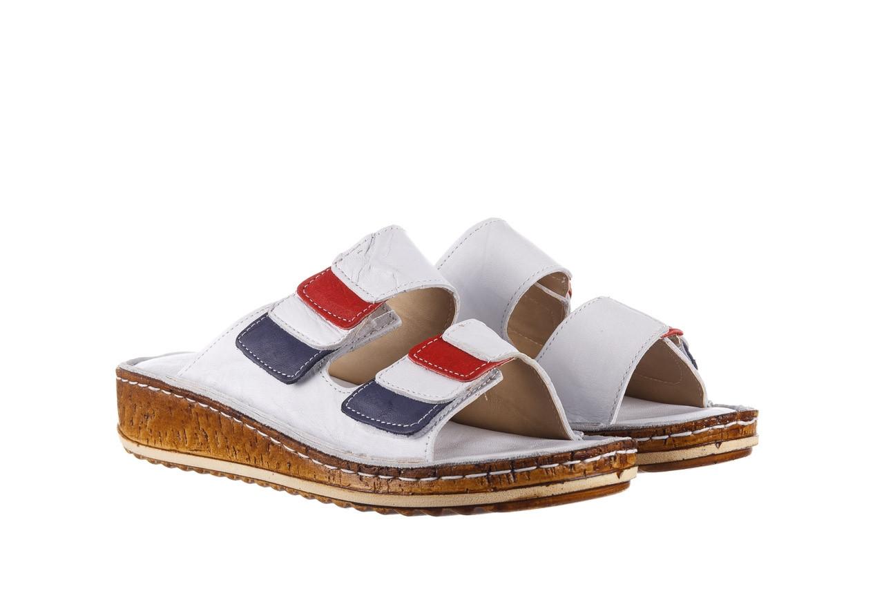 Klapki bayla-161 016 109 tommy 21 161187, biały, skóra naturalna  - klapki - buty damskie - kobieta 9