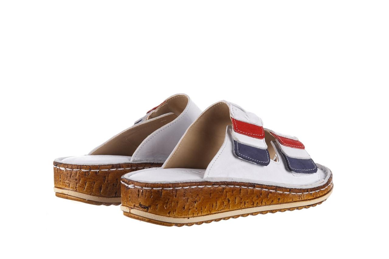 Klapki bayla-161 016 109 tommy 21 161187, biały, skóra naturalna  - klapki - buty damskie - kobieta 11