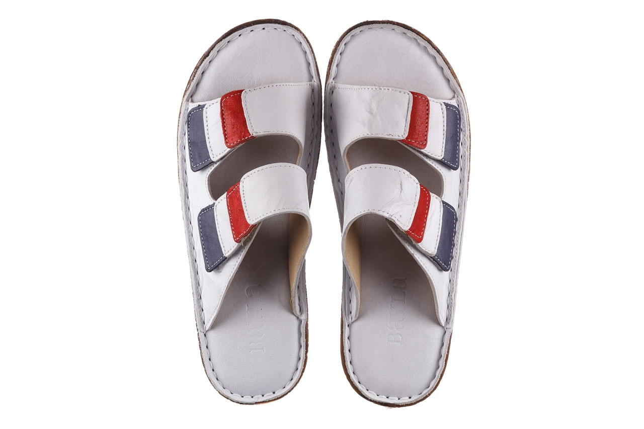 Klapki bayla-161 016 109 tommy 21 161187, biały, skóra naturalna  - klapki - buty damskie - kobieta 12