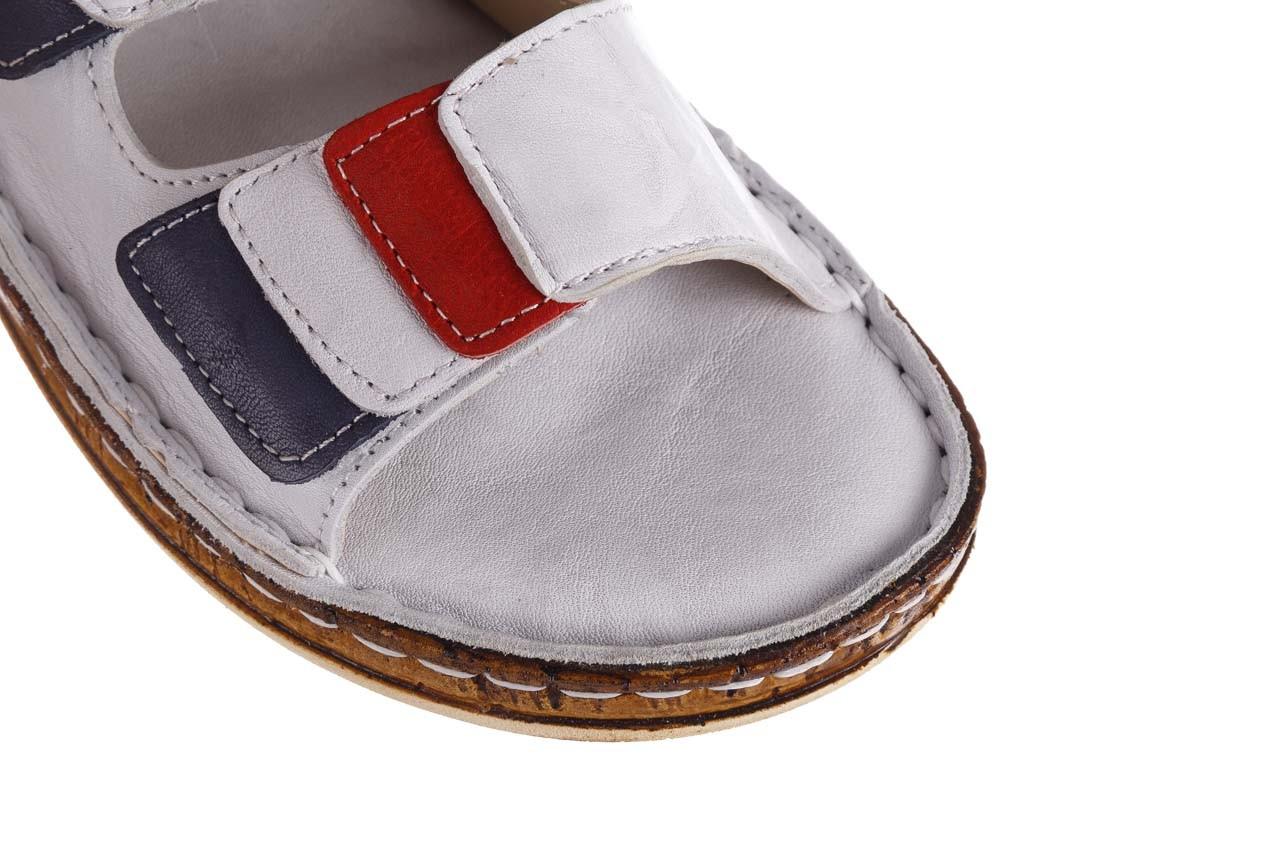 Klapki bayla-161 016 109 tommy 21 161187, biały, skóra naturalna  - klapki - buty damskie - kobieta 13
