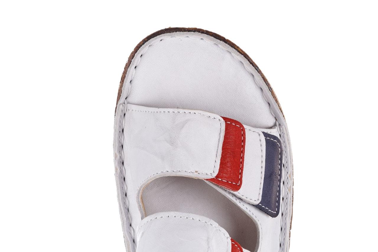 Klapki bayla-161 016 109 tommy 21 161187, biały, skóra naturalna  - klapki - buty damskie - kobieta 14