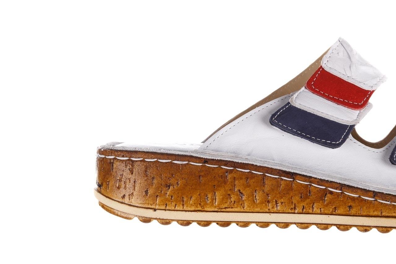 Klapki bayla-161 016 109 tommy, biały, skóra naturalna  - klapki - buty damskie - kobieta 15