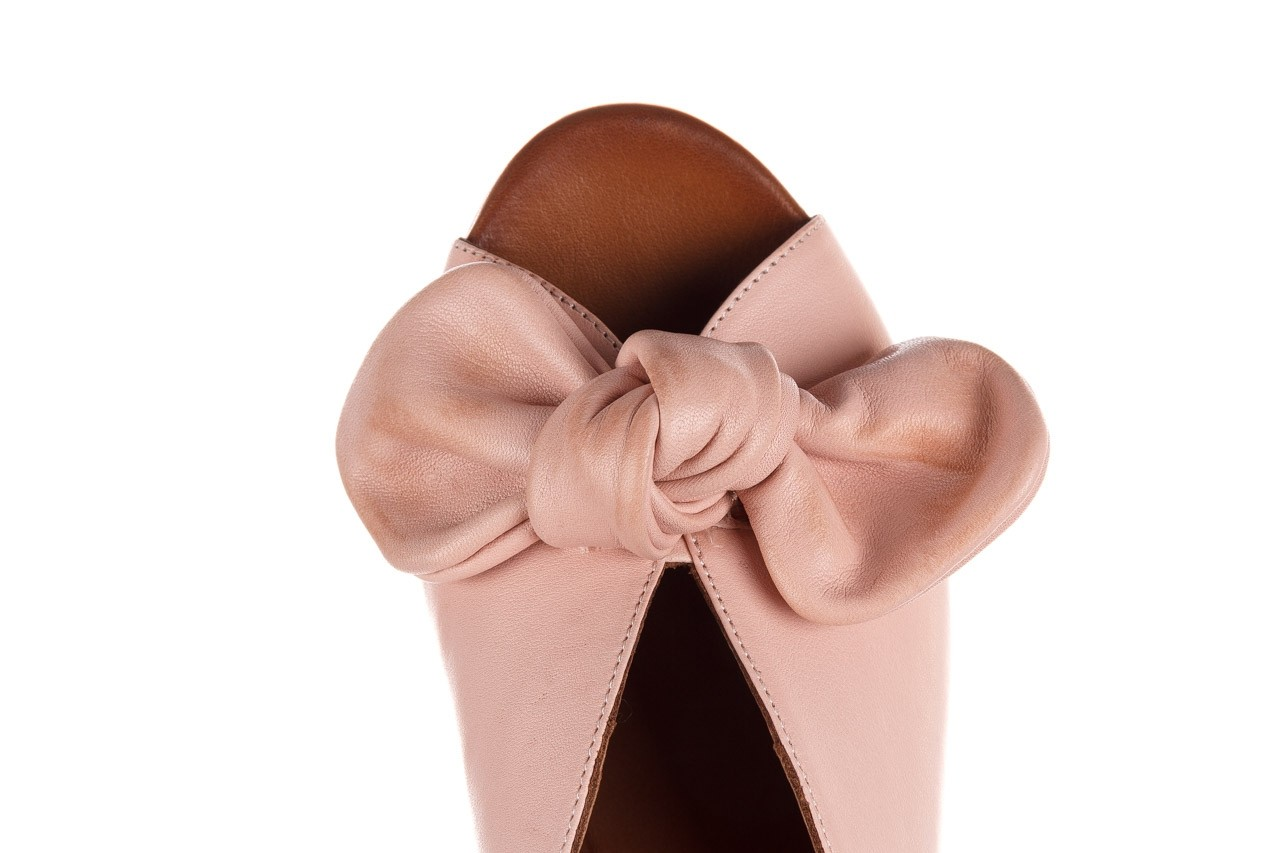Klapki bayla-161 061 1029 cameo, róż, skóra naturalna 14