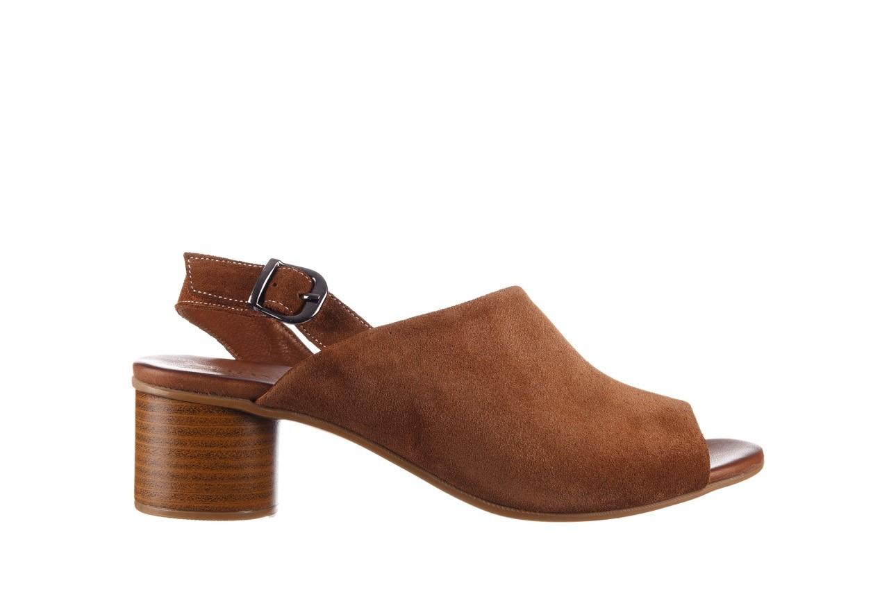 Sandały bayla-161 061 1030 tan suede, brąz, skóra naturalna zamszowa - sandały - dla niej  - sale 8