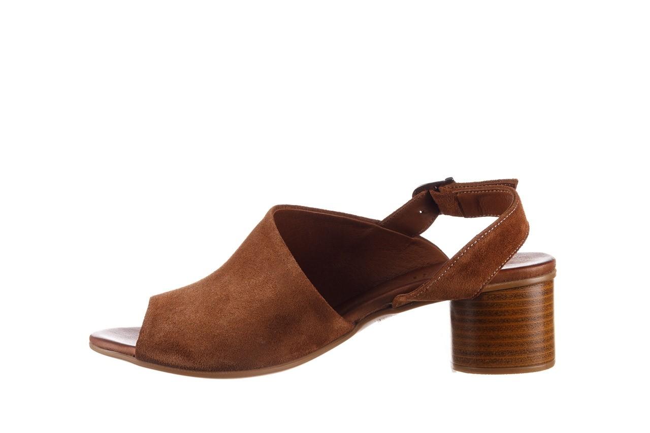 Sandały bayla-161 061 1030 tan suede, brąz, skóra naturalna zamszowa - sandały - dla niej  - sale 10