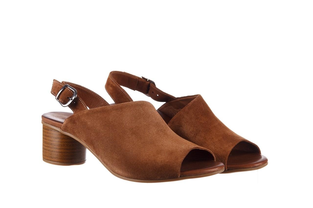 Sandały bayla-161 061 1030 tan suede, brąz, skóra naturalna zamszowa - sandały - dla niej  - sale 9