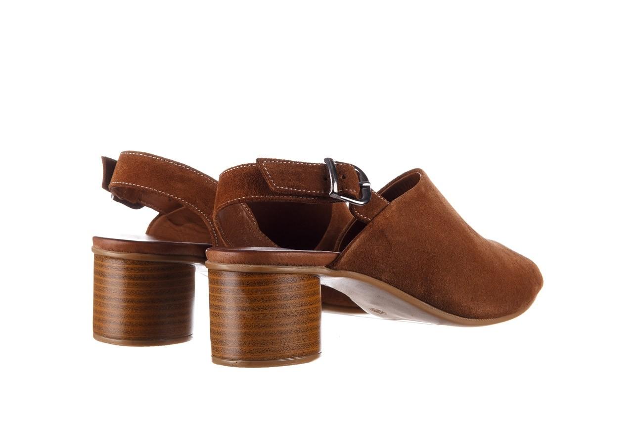 Sandały bayla-161 061 1030 tan suede, brąz, skóra naturalna zamszowa - sandały - dla niej  - sale 11