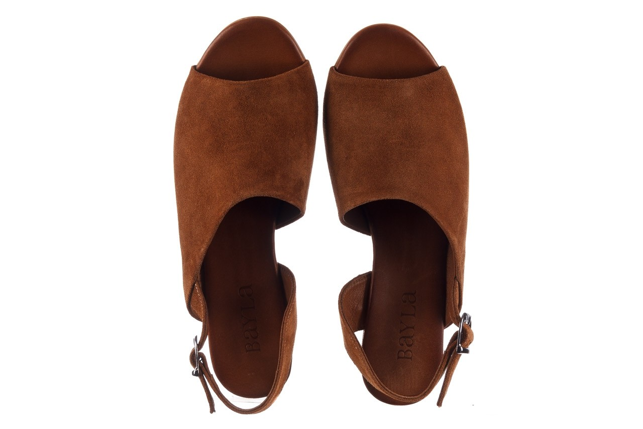 Sandały bayla-161 061 1030 tan suede, brąz, skóra naturalna zamszowa - sandały - dla niej  - sale 12
